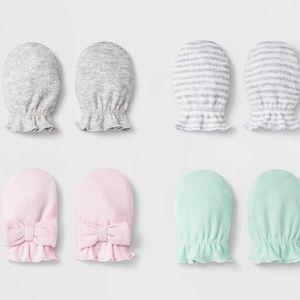 Cloud island baby mittens